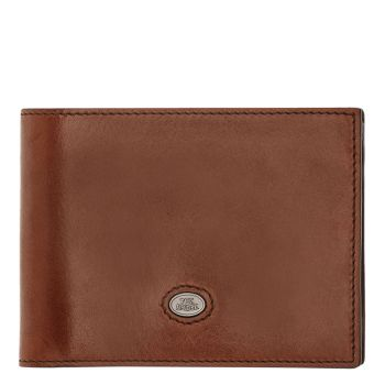 THE BRIDGE Lorenzo Line – Brown Leather Wallet with Coin Pocket Made in Italy