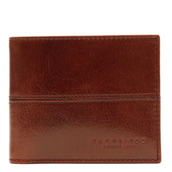 THE BRIDGE Brown Leather Man Wallet Vespucci Line Made in Italy