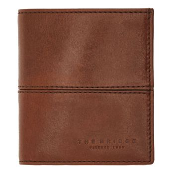 THE BRIDGE Brown Leather Vertical Man Wallet Vespucci Line Made in Italy