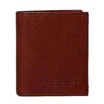 THE BRIDGE Lapo Line – Brown Leather Vertical Wallet for Men