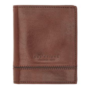 THE BRIDGE Neri Line – Brown Leather Credit Card Wallet