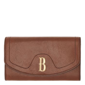 THE BRIDGE Francesca Line – Brown Leather Wallet with Button