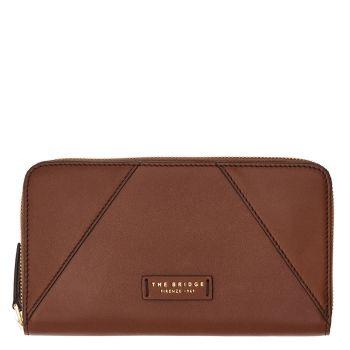 THE BRIDGE Tintori Line - Brown Leather Zip Around Wallet