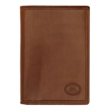 THE BRIDGE Story Line – Brown Vertical Leather Wallet Made in Italy