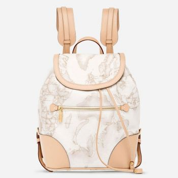 1A Classe Alviero Martini Neo Casual D015 - Geo White Backpack Made in Italy