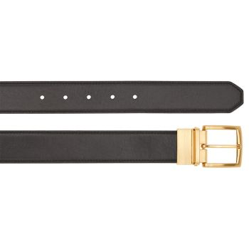 THE BRIDGE Vespucci Line – Brown and Black Leather Belt of 110 cm length Made in Italy
