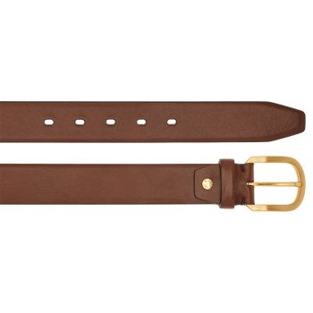 THE BRIDGE Vespucci Line – Brown Leather Belt of 110 cm length Made in Italy