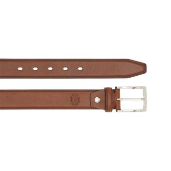 THE BRIDGE Brown Leather 120cm Belt with Silver Buckle Burnelleschi Line Made in Italy