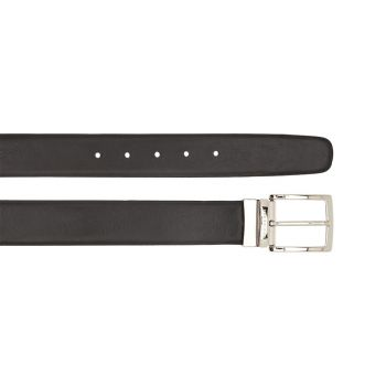 THE BRIDGE Black and Brown Double Face Leather 120cm Belt Burnelleschi Line Made in Italy