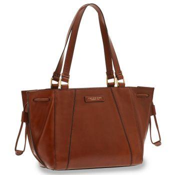 THE BRIDGE Camilla Line – Brown Leather Tote Bag