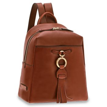 THE BRIDGE Margherita Line - Brown Leather Backpack Made in Italy