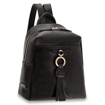THE BRIDGE Margherita Line - Black Leather Backpack Made in Italy