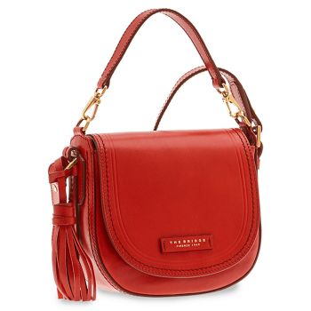 THE BRIDGE Pearl District Line – Red Leather Woman Handle Bag