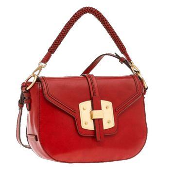 THE BRIDGE Lambertesca Line - Red Leather Medium Crossbody Bag Made in Italy