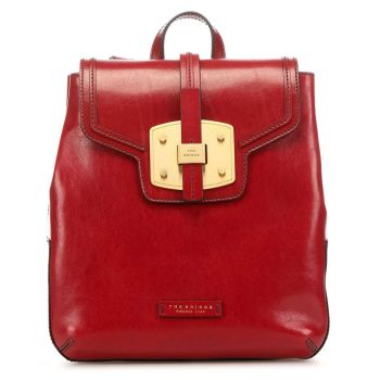 THE BRIDGE Lambertesca Line - Red Leather Backpack Made in Italy