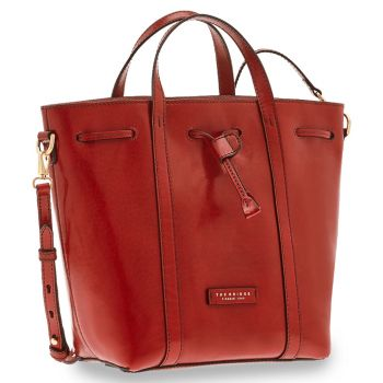 THE BRIDGE Vittoria Line - Red Leather Bucket Bag Made in Italy