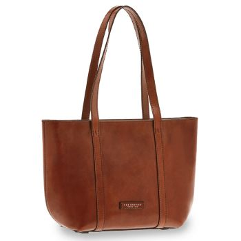 THE BRIDGE Vittoria Line - Brown Leather Shopping Bag Made in Italy