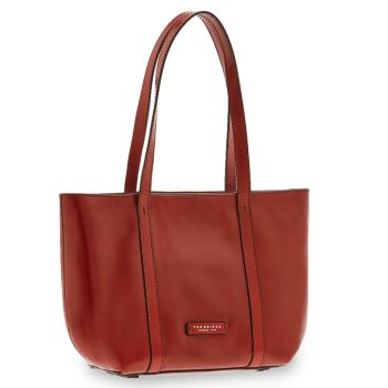 THE BRIDGE Vittoria Line - Red Leather Shopping Bag Made in Italy
