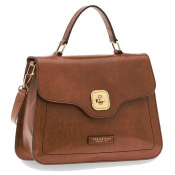 THE BRIDGE Hornby Line – Brown Leather Handle Bag