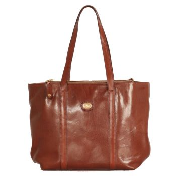 THE BRIDGE Story Line – Brown Leather Tote Bag for Women