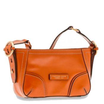 THE BRIDGE Matilde Line – Small Orange Leather Crossbody Bag for Her