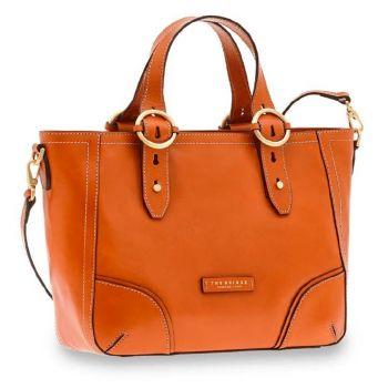 THE BRIDGE Matilde Line – Orange Leather Handle Bag