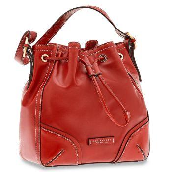THE BRIDGE Matilde Line – Red Leather Bucket Bag