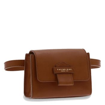 THE BRIDGE Cernaia Line - Brown Leather Belt Bag Made in Italy