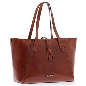 THE BRIDGE Brown Leather Woman Shoulder Bag Florentin Line
