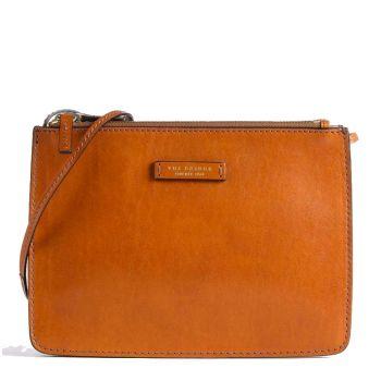THE BRIDGE Rustici Line – Cognac Leather Crossbody Bag for Women