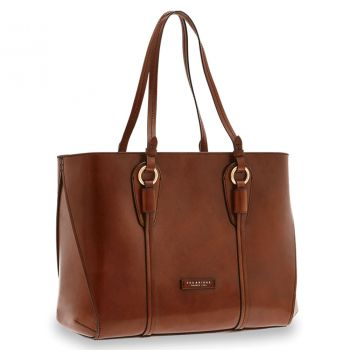 THE BRIDGE Strozzi Line – Brown Leather Tote Bag