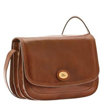 THE BRIDGE Story Line – Brown Leather Cross-body Bag