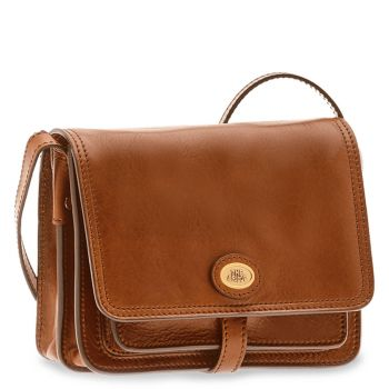 THE BRIDGE Story Line – Brown Leather Crossbody Bag