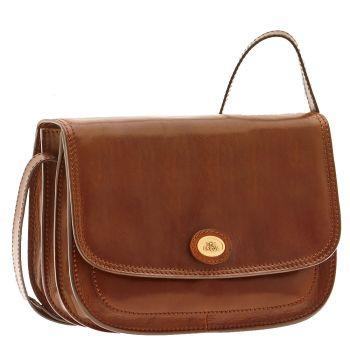 THE BRIDGE Story Line – Medium Brown Leather Crossbody Bag