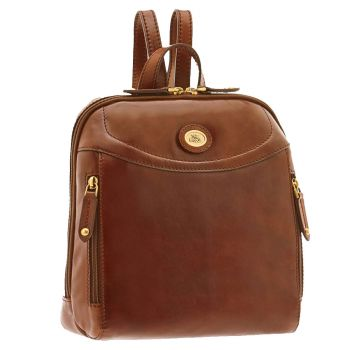 THE BRIDGE Story - Brown Leather Woman Backpack Made in Italy