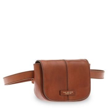 THE BRIDGE Faentina Line - Brown Leather Bum Bag