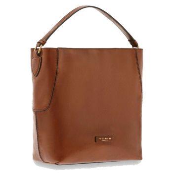 THE BRIDGE Caterina Line –Brown Leather Hobo Bag
