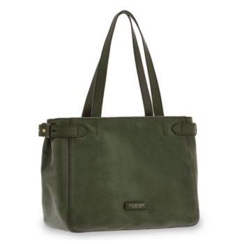 THE BRIDGE Maria Line – English Green Leather Tote Bag