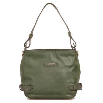 THE BRIDGE Maria Line – English Green Leather Hobo Bag