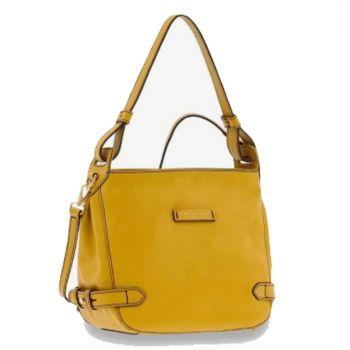 THE BRIDGE Maria Line – Citron Leather Shoulder Bag for Women