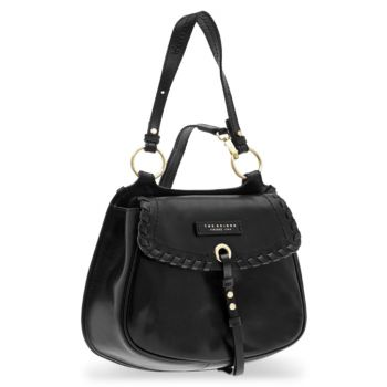 THE BRIDGE Vallombrosa Line - Black Leather Double Function Bag Made in Italy
