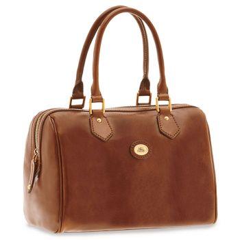 THE BRIDGE Brown Leather Woman Barrel Handbag Story Line