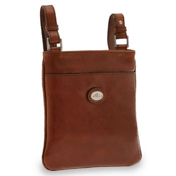 THE BRIDGE Story - Brown Man Body Bag Made in Italy