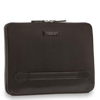 THE BRIDGE Soderini Line – Black Leather Briefcase