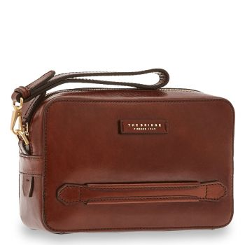 THE BRIDGE Brown Leather Man Bag Soderini Line Made in Italy