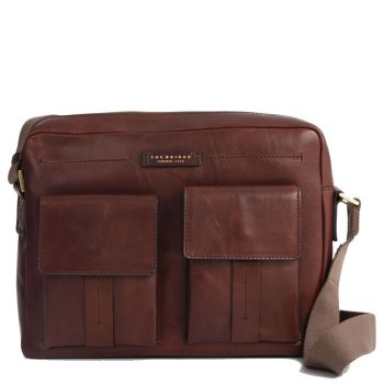 THE BRIDGE Brown Leather Reporter Messenger Serristori Line