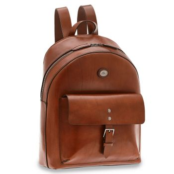 THE BRIDGE Lorenzo Line – Brown Leather Backpack for Pc