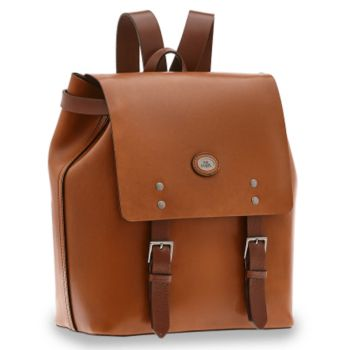 THE BRIDGE Lorenzo Line – Brown Leather Backpack for Men