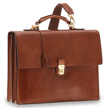 THE BRIDGE Story Line – Brown Leather Briefcase for Pc