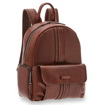 "THE BRIDGE Cosimo Line - Brown Leather Backpack Pc 14"" Made in Italy"